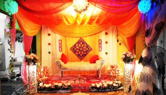 Colourful Malay Wedding Dais